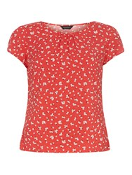 Dorothy Perkins Floral Ditsy Print T Shirt Red