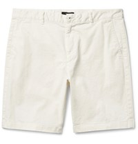 Theory Zaine Slim Fit Stretch Cotton Shorts White