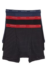 Nordstrom Shop 3 Pack Supima Cotton Boxer Briefs Black Red Navy Stripe