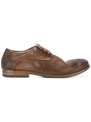 Marsell Perforated Derby Shoes Brown
