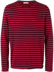 Societe Anonyme 'Universal' Striped Pullover Unisex Cotton S Red