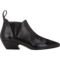 Marsell Women's Western Ankle Boots Black Blue Black Blue