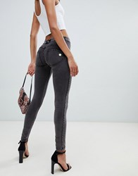 Freddy Shaping Effect Mid Rise Brushed Cotton Jegging Brushed Grey