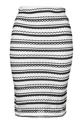Stripe Lace Co Ord Skirt By Wal G Black