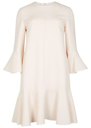 Valentino Pale Pink Wool And Silk Blend Dress Ivory