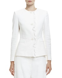 Stella Mccartney Button Front Ruffle Trimmed Jacket