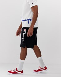 Champion Shorts With Logo In Black
