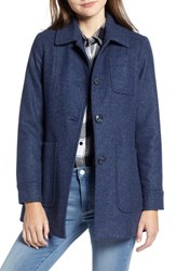 Pendleton Casper Mel Wool Blend Barn Coat Indigo