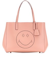 Anya Hindmarch Smiley Ebury Leather Shopper Pink