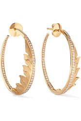 Stephen Webster Magnipheasant 18 Karat Gold Diamond Hoop Earrings One Size