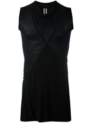 Rick Owens Crust Tank Top Men Silk Viscose 42 Black