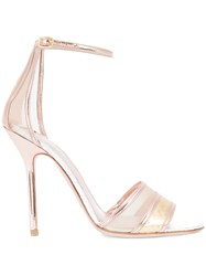 Aperlai Stiletto Sandals Metallic