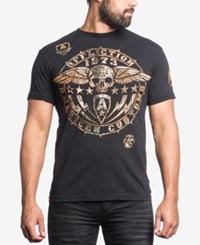 Affliction Men's Ac Smash Camo Graphic Print T Shirt Black
