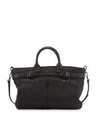 Kira Bubble Leather Satchel Bag Black Kooba