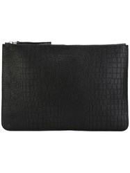 Orciani Large Zip Clutch Black