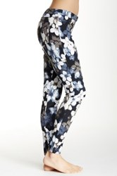 Hue Mod Floral Denim Legging Blue