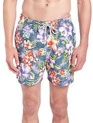 Saks Fifth Avenue Floral Printed Swim Shorts Tropical Floral
