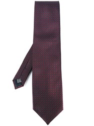Pal Zileri Printed Tie Pink Purple