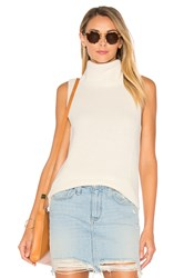 Central Park West Leeds Sleeveless Sweater White