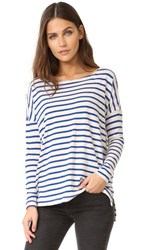 The Great Great. Sailor Tee Blue Cream Stripe