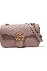 Gucci Gg Marmont 2.0 Small Quilted Leather Shoulder Bag Sand