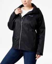 Columbia Plus Size Switchback Ii Omni Shield Water Repellent Jacket Black