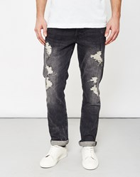 Only And Sons Weft Destroyed Dark Grey Denim Jeans