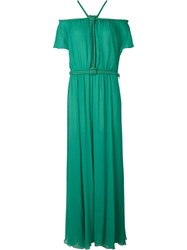 Jay Ahr Rope Detail Evening Dress Green