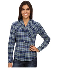 Mountain Hardwear Tahoma Hooded Flannel Long Sleeve Shirt Bright Bluet Women's Long Sleeve Button Up