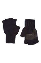 Men's Upstate Stock Fingerless Wool Gloves With Deerskin Leather Palms