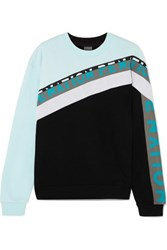 P.E Nation Double Block Paneled Cotton Jersey Sweatshirt Black