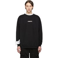 Vetements Black Inverted Logo Sweatshirt