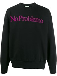 Aries 'No Problemo' Print Sweatshirt Black