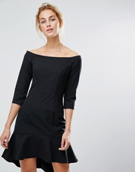 Coast Terezita Bardot Mini Dress Black