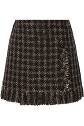 Sonia Rykiel Embellished Metallic Tweed Mini Skirt Black