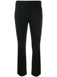 Tory Burch Button Detailed Trousers Black