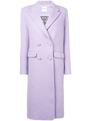Each X Other Oversized Double Breasted Coat Pink