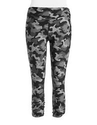 Kensie Camo Active Pants Dark Combo