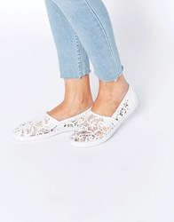 Asos Dede Canvas Trainers Cream White