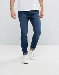 Bellfield Stonewash Tapered Fit Jeans Blue