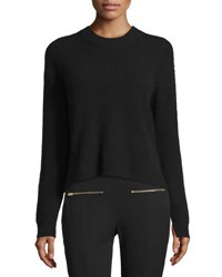 Rag And Bone Valentina Cropped Ribbed Cashmere Sweater Black