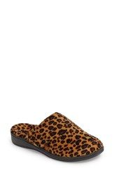Vionic Gemma Slipper Tan Leopard Fabric