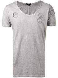 Unconditional Shotgun Scoop Neck T Shirt Men Cotton M Grey