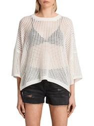 Allsaints Crosby Cropped Jumper Cloud White