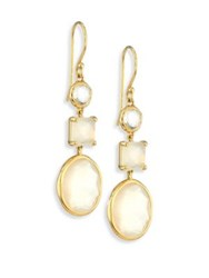 Ippolita Rock Candy Flirt 3 Stone 18K Yellow Gold Drop Earrings