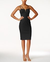 Guess Strappy Sweetheart Bodycon Dress Black