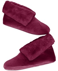 Charter Club Microvelour Bootie Slipper With Memory Foam Only At Macy's Wine