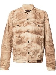 Prps Crinckle Denim Jacket Brown