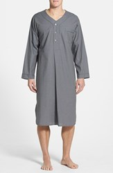 Men's Majestic International Cotton Nightshirt Charcoal