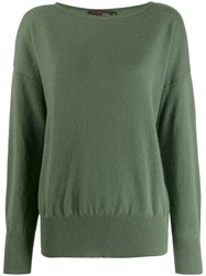 Incentive Cashmere Oversized Jumper Green